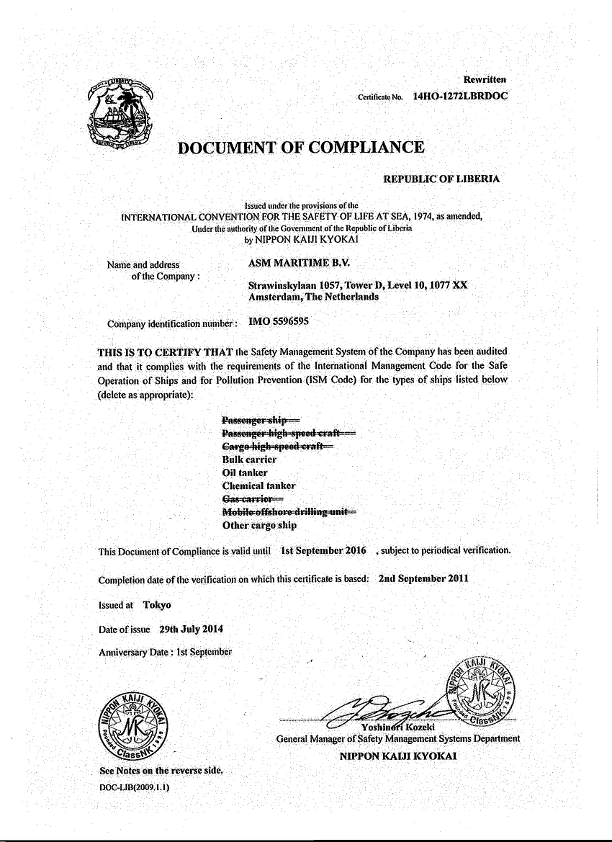 What Is Doc Or Document Of Compliance