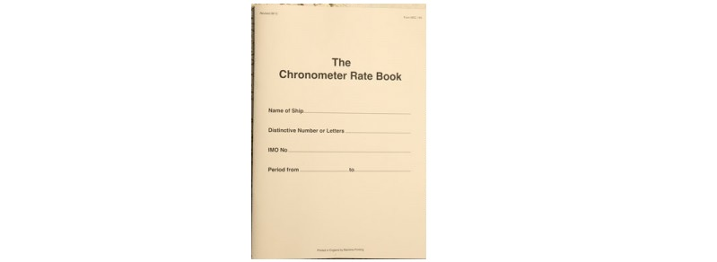 chronometer log book
