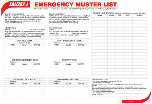muster list